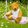 Royalty-Free Stock Photo: Teddy bear on swing