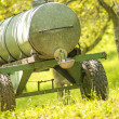 Water tank vehicle for cows — Stock Photo