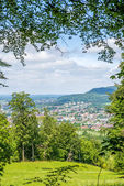 Panoramic view to a city in Germany — Stock Photo