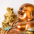 Buddha laughs — Stock Photo