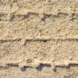 Stock Photo: Tracks in sand