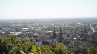 Obernai, medieval city in Alsace,France — Stock Video