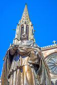 Monument of bishop Freppel in Obernai, Alsace, France — Stock Photo