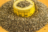 Chia seeds, Salvia hispanica,for diet — Stock Photo