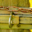 Rusty chain with lock — Stock Photo #32471759