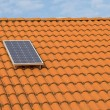 Solar panel o roof — Stock Photo