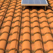 Stock Photo: Solar panel o roof