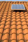 Solar panel o roof — Stock Photo