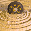 Tao symbol in zen circles — Stock Photo