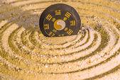Tao symbol in zen circles — Stock Photo