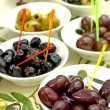 Olives, offer at a street sale — Stock Photo