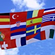 Flag of European countries — Stock Photo