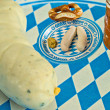 Veal sausage dish on Oktoberfest — Stock Photo