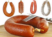 Sausages with kielbasa — Stock Photo