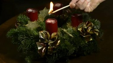 Advent wreath — Stock Video