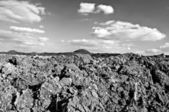 Acre with big clods — Stock Photo