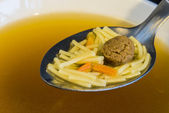 Noddle soup with beef balls — Stock Photo