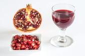 Jus, de fruits, de graines et de grenade — Photo