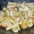 Stock Photo: Tofu in Chinese wok