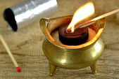 Chinese incense pot — Stock Photo