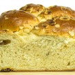 图库照片: Braided yeast bun