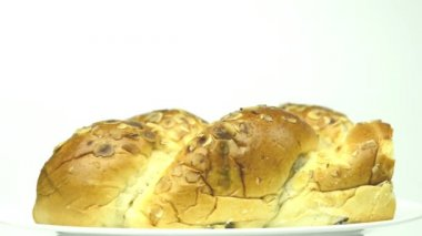 Easter yeast bun — Stock Video