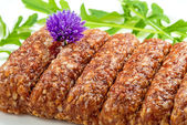 Cevapi, raw ready for barbecue — Stock Photo