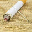 Acupuncture to stop smoking — Stock Photo #46998575