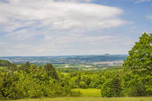 Panoramic view to the German emperor hill Hohenstaufen — Stock Photo