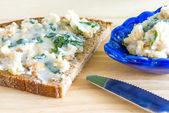 Wild garlic lard — Stock Photo