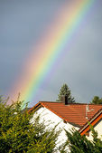 Rainbow in the city — Stock Photo
