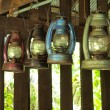 Old lantern in wooden house. — Stock Photo #47245543
