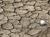 Concept of global warming, Golf courses in the future. — Stock Photo