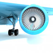 Nice jet engine front view. — Stock Photo #47255139