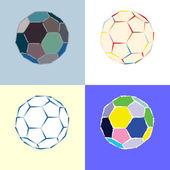 时尚足球球收藏-矢量图 — 图库矢量图片