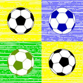 Soccer ball, vector illustration — Vector de stock