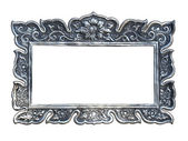 Silver frames in a Thai temple — Stock Photo