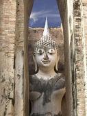 Buda tailandês, phra achana na colega de wat si — Fotografia Stock