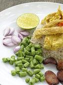 Rice with shrimp paste. — Stock Photo