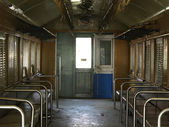 In the abandoned Train bogeys, Concepts with deterioration in the city. — Stock Photo