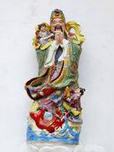 Fu Lu Shou statues in Chinese Shrine. — Stock Photo
