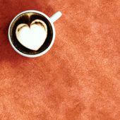 Witte breuk in witte kop koffie — Foto Stock