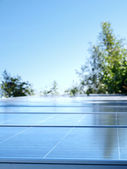 Solar panels on top of the hill in the jungle, Chiang Mai, Thailand. — Stock Photo