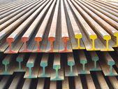 Stack steel railway. — ストック写真