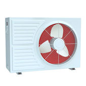 Air conditioner on white background, to supply the home house or office — Stock Photo
