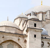 Dome and minaret of Suleymaniye Mosque in Turkey — Stock Photo