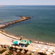 View of the beach of Balchik in Bulgaria from the Palace of the Romanian QueenMaria. — Stock Photo