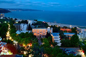 Photo of Albena resort in the late evening. — Stock Photo