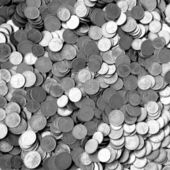 Small coins donated by people — Stock Photo