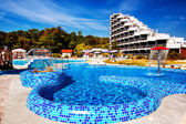 Pool near the house to stay in Albena. — Stock Photo